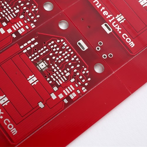 2layer Red Soldermask HAL-Free PCB