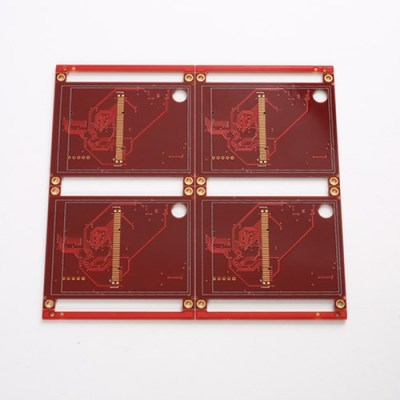 6layer LCD PCB circuit Board For Red Soldermask with Half V-CUT