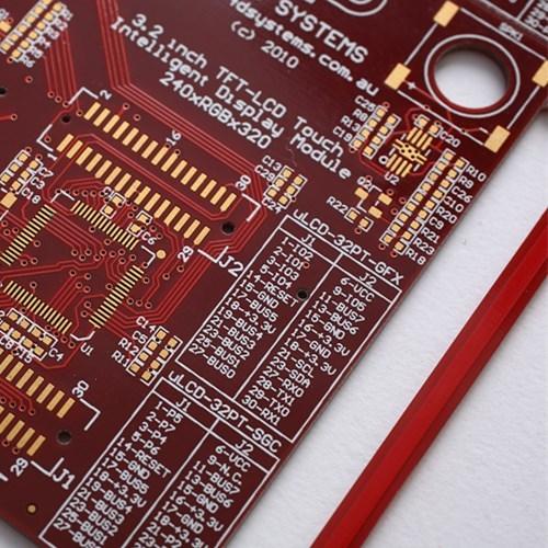 6-слойная плата PCB для красной паяльной маски с половиной V-CUT