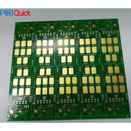 Large area gold transfer process thin printed circuit board