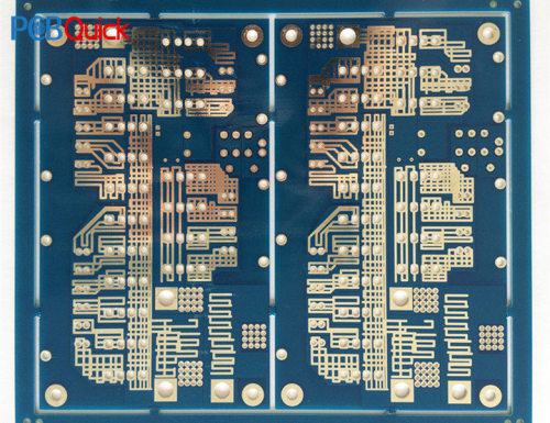 Express fabrication fr4 pcb stencil -Blue multilayer circuit board