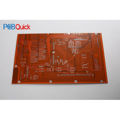 4 Layer PCB Circuit Board With Orange Soldermask