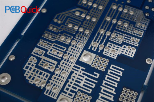 Double Layer Blue Soldermask HAL-Free PCB Board 