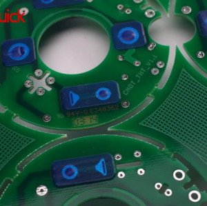 FR4 Multilayer PCB Manufacturing With Blue Peelable Mask Layer