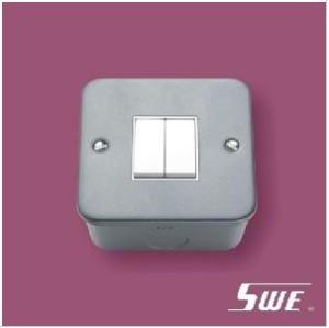 2 Gang Plate Switch 10A 250V (M Range)