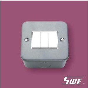 3 Gang Plate Switch 10A 250V (M Range)