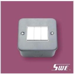 3 Gang Plate Switch 10A 250V (M Range)