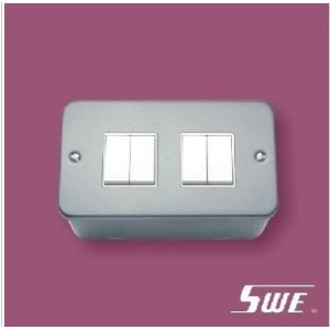 4 Gang Plate Switch 10A 250V (M Range)