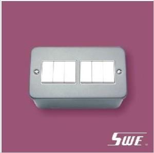 6 Gang Plate Switch 10A 250V (M Range)