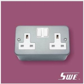 2 Gang Socket Outlet 13A (M Range)