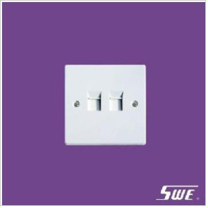 2 Gang Telephone Socket (N Range)