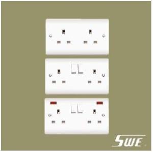 2 Gang Socket Outlet 13A (V Range)