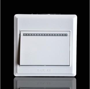 一位单控开关 M911经典雅白PC开关插座 明装开关 无暗盒开关插座