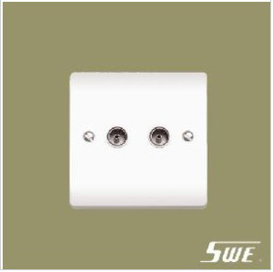 2 Gang TV Socket (V Range)