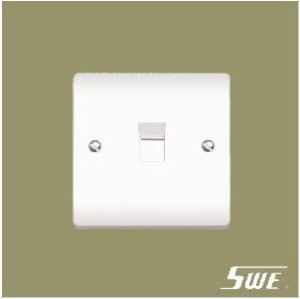1 Gang Telephone Socket (V Range)