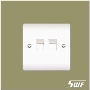 2 Gang Telephone Socket (V Range)