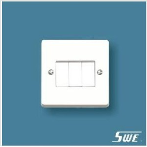 3 Gang Plate Switch 10AX 250V (W Range)