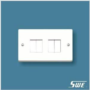 4 Gang Plate Switch 10AX 250V (W Range)