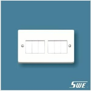 6 Gang Plate Switch 10AX 250V (W Range)