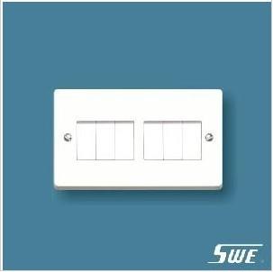 6 Gang Plate Switch 10AX 250V (W Range)