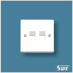 2 Gang Telephone Socket (W Range)