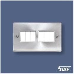 6 Gang Plate Switch 10A 250V (T Range)