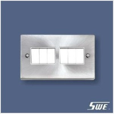 6 Gang Plate Switch 10A 250V (T Range)