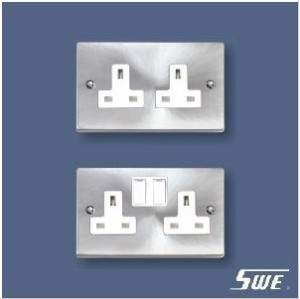 2 Gang Socket Outlet 13A (T Range)