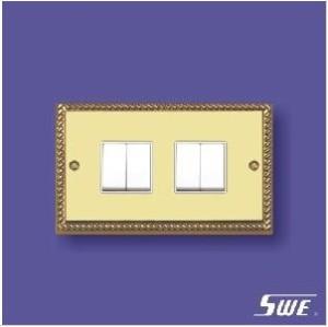4 Gang Plate Switch 10ax 250V (TA Range)