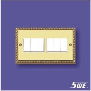 6 Gang Plate Switch 10ax 250V (TA Range)