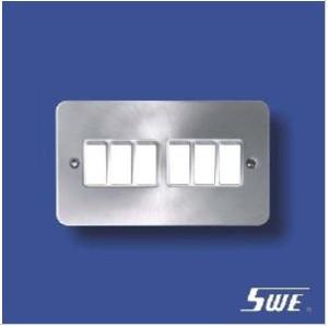 6 Gang Plate Switch 10A 250V (TB Range)