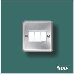 3 Gang Plate Switch 10A 250V (THV Range)