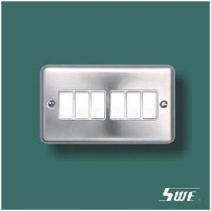 6 Gang Plate Switch 10A 250V (THV Range)