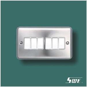 6 Gang Plate Switch 10A 250V (THV Range)