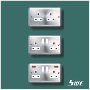 2 Gang Socket Outlet 13A (THV Range)