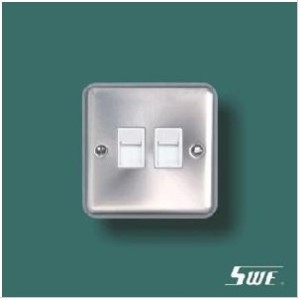 2 Gang Telephone Socket (THV Range)
