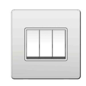 3 Gang Plate Switch 10AX 250V (SR Range)