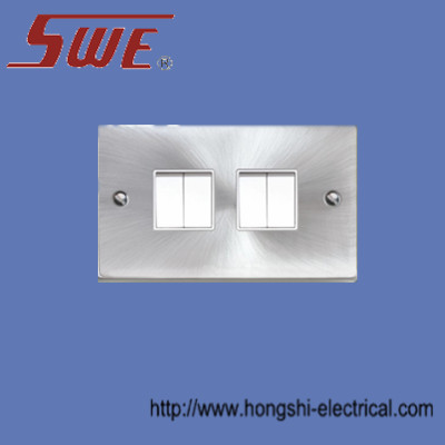 4 Gang Plate Switch 10A 250V