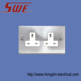 2 Gang Socket Outlet 13A