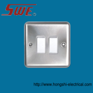 2 Gang Plate Switch 10A 250V