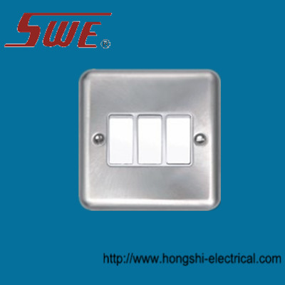 3 Gang Plate Switch 10A 250V
