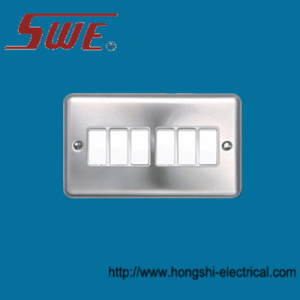 6 Gang Plate Switch 10A 250V