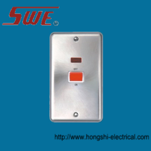Heavy Load Switch With Neon 3*6 45A DP