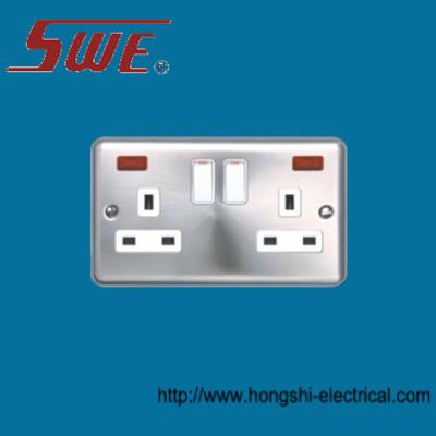 2 Gang Socket Outlet 13A