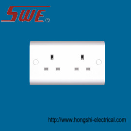 2 Gang Socket Outlet 13A Unswitched