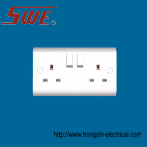 2 Gang Socket Outlet 13A Switched