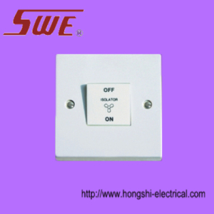 1 Gang 3-Pole Fan Switch 10AX 250V