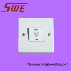 1 Gang 3-Pole Fan Switch 10AX 250V