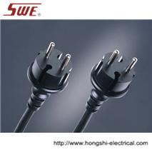 Euro N/R Plug Schuko,2-pin,water-proof