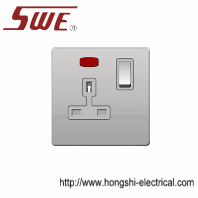 1 gang socket 13A with neon